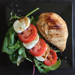 Balsamic Chicken with Insalata Caprese