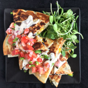 Blackened Corn Quesadillas
