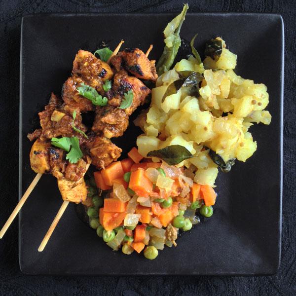Chicken-Dinner, Indian-Style