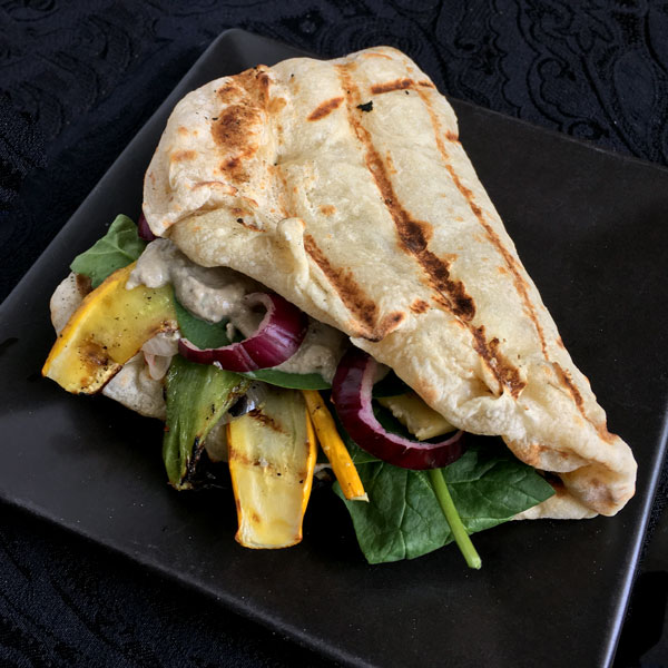 Grilled Naan Sandwiches