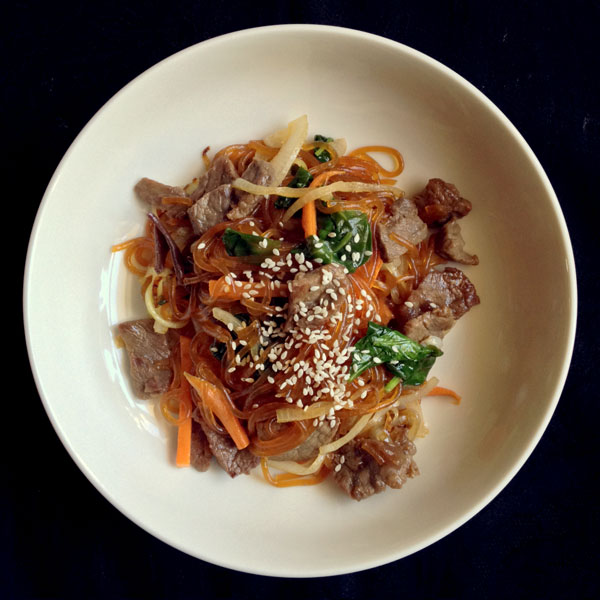 Japchae (Korean Beef Stir-Fry) | Homegrown Foods