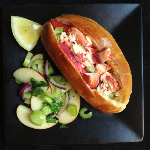 Lobster Rolls with Celery-Apple Salad
