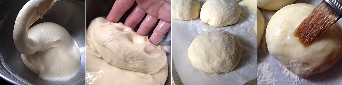 Making Radish Hamburger Buns