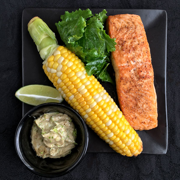 salmon and corn with cumin lime butter cook time 30 min lime zest and ...