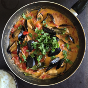 Thai Red Curry with Mussels